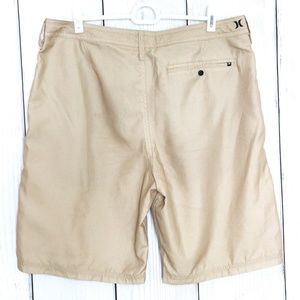 Hurley Shorts - Hurley Khaki Chevron Mens Board Shorts